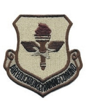 USAF Patch Air Education and Training Command Desert with Fastener