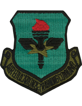 USAF Air Education and Training Command Subdued Patch With Fastener