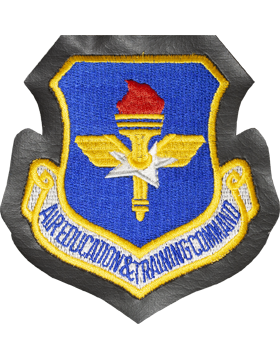 Air Education Command Full Color Patch on Leather with Fastener