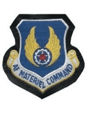 Air Force Materiel Command Full Color Patch on Leather with Fastener