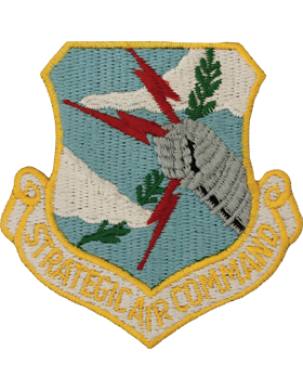 USAF Strategic Command Full Color Patch On Leather With Fastener