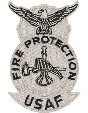 USAF Fire Patch with Bugle Hat and Axe Metalic Color