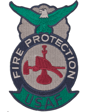 Fire Protection Badge Bugle Hat & Axe ABU