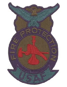 USAF Fire Protection (Bugle Hat & Axe) Full Color Patch
