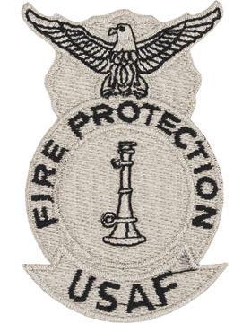 USAF Fire Protection Patch 1 Bugle Metalic Color