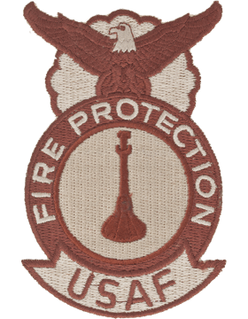 Fire Protection Badge One Bugle Desert