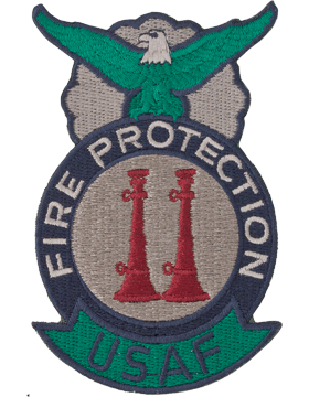 Fire Protection Badge  Assistant Crew Chief Two Bugles (Parallel) ABU