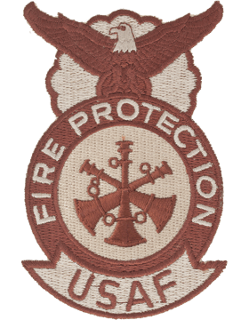 Fire Protection Badge Assistant Fire Chief Patch, Three Bugles Desert