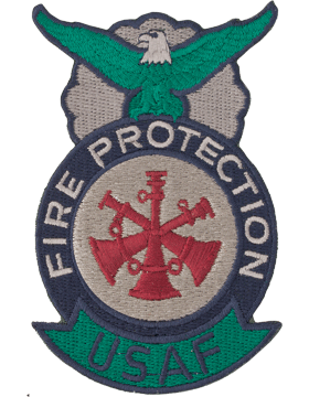 Fire Protection Badge Assistant Fire Chief Patch Three Bugles ABU