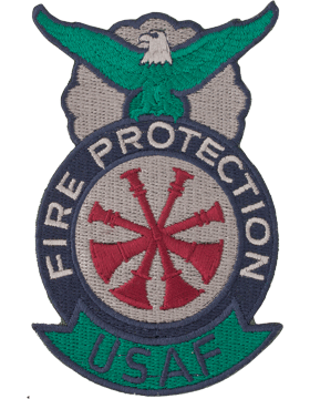 Fire Protection Badge Deputy Fire Chief Patch Four Bugles ABU