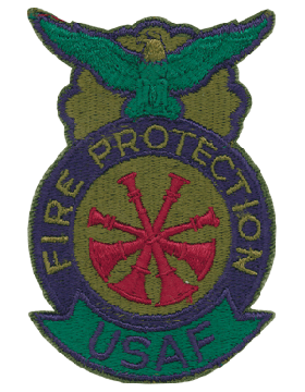 Fire Protection Badge Deputy Fire Chief Patch Four Bugles Subdued