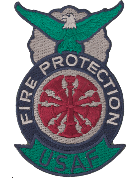 Fire Protection Badge Fire Chief Patch Five Bugles ABU