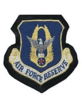 Air Force Reserve Command Full Color Patch on Leather with Fastener