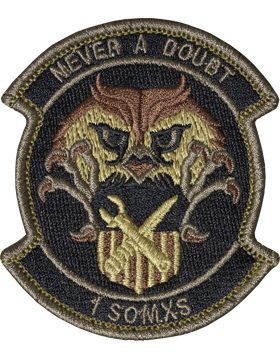1st Special Operations Maintentenance Squadron Scorpion Patch with Fastener