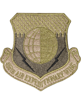 455th Air Expeditionary Wing Scorpion Patch with Fastener