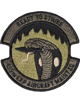 455th Expeditionary Aircraft Maintenance Sq Scorpion Patch with Fastener