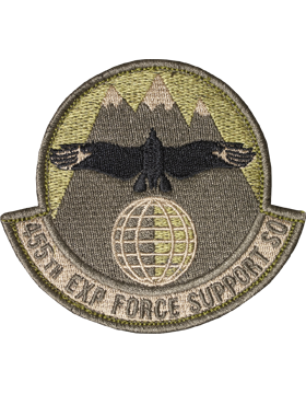 455th Exp Force Support Sq Scorpion Patch with Fastener