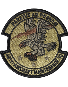 461st Aircraft Maintenance Sq Scorpion Patch with Fastener