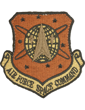 USAF Patch Air Force Space Command Scorpion with Fastener