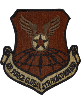 USAF Patch Air Force Global Strike Command with Fastener