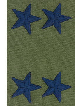 Air Force Subdued Sew-on Rank Major General (Point to Center)