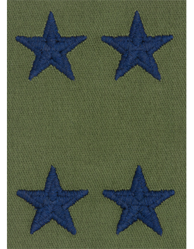 Air Force Subdued Sew-on Rank Major General (Point to Point)