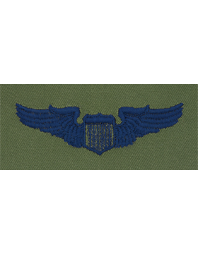 Air Force Subdued Sew-on Badge Pilot