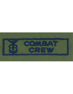 Air Force Subdued Sew-on Badge Combat Crew
