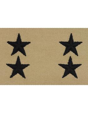 Major General (Point to Center) USAF Sew-On Desert