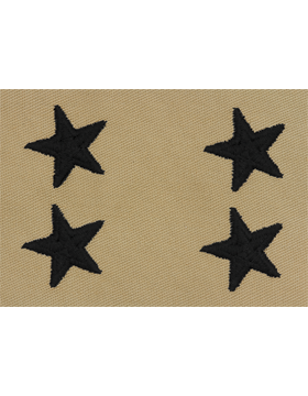 Major General (Point to Point) USAF Sew-On Desert