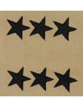 Lieutenant General (Point to Center) USAF Sew-On Desert