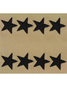 General (Point to Center) USAF Sew-On Desert