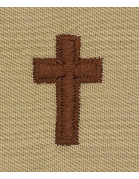 Air Force Desert Sew-on Badge Christian Chaplain