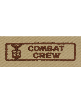 Air Force Desert Sew-on Badge Combat Crew