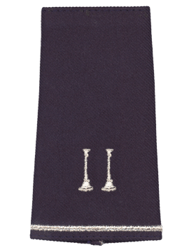 USAF Shoulder Marks (AF-SM751-S) Blue with Two Parellel Bugles (Pair)