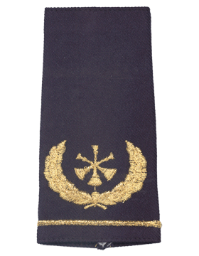 USAF Shoulder Marks Blue with Three Bugles (Assistant Chief) (Pair)
