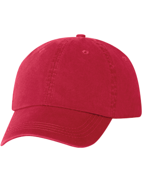 AH70-30 Bio-Washed Cotton Red Twill Cap