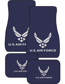 US Air Force, Auto Mats, Set of 4 Front and Back