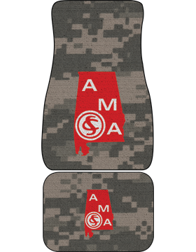 Auto Mats, Alabama Military Academy, Set of 2, Specify Color