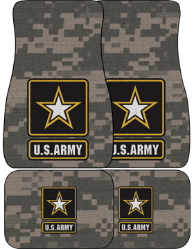US Army Star, Auto Mats, Set of 4 Front and Back