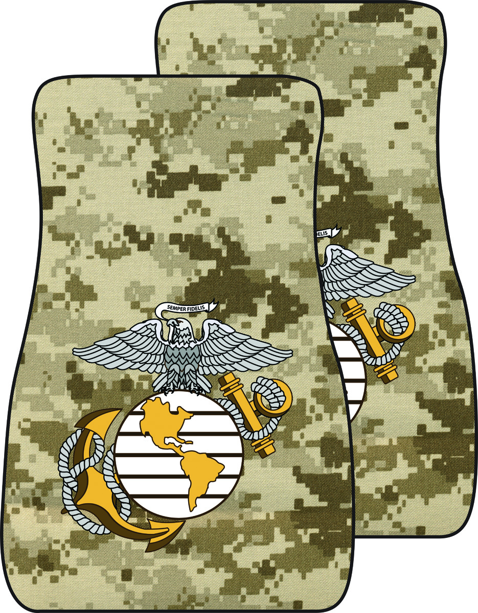 United States Marine Corp Shield Auto Mats Desert Digital