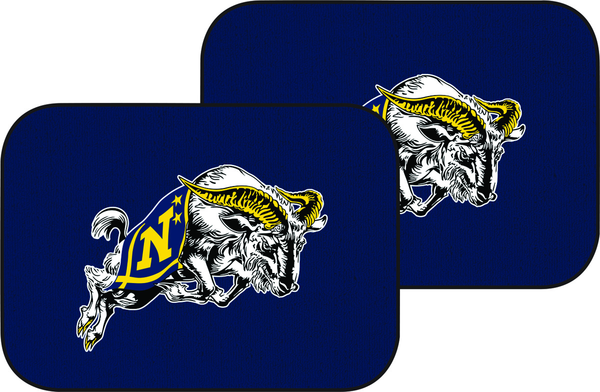 USNA with Jumping Goat Auto Mats, Set of 2 Rear, Navy