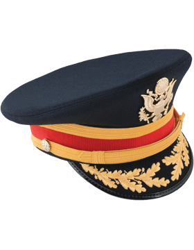Army Blue Service Cap Field Grade Bullion