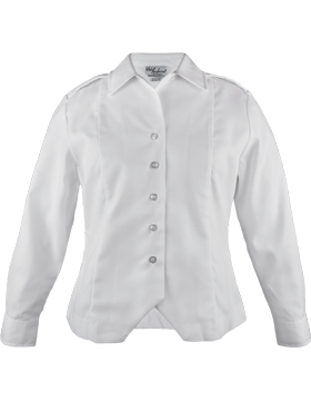 Army White Long Sleeve Female Duty Over Blouse