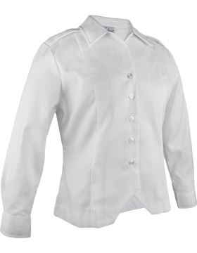 Army White Long Sleeve Female Duty Tuck-In Blouse small