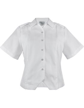 Army White Short Sleeve Female Duty Over Blouse