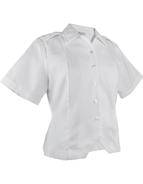 Army White Short Sleeve Female Duty Tuck-In Blouse small
