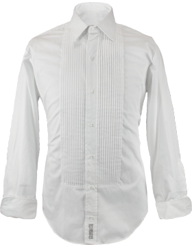 White Tuxedo Dress Shirt Male