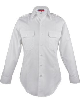 Male Army White Long Sleeve Duty Shirt