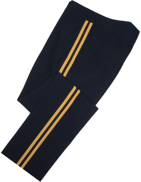Male Army General Officer Dress Blue Hi-Rise Pants Tropical Material